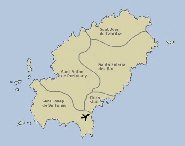 Eilandtransfer-Ibiza gemeentes van Ibiza