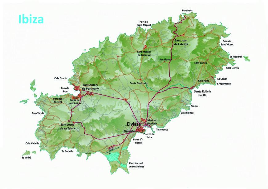 Eilandtransfer-Ibiza landkaart